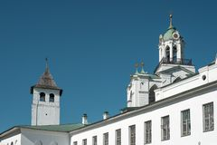 Russisches orthodoxes Kloster stockbild