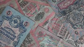 Russisches Reich-Papiergeld stock footage