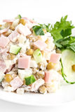Russisches Salat olivie Stockbilder