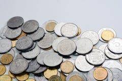 Russisches und ukrainisches Geld Stockbilder