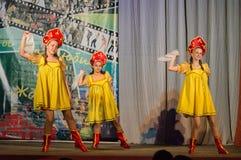 Russisches Volkstanz-Wettbewerb Leben im Tanz in der Stadt von Kondrovo, Kaluga-Region in Russland im Jahre 2016 Stockfoto