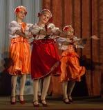 Russisches Volkstanz-Wettbewerb Leben im Tanz in der Stadt von Kondrovo, Kaluga-Region in Russland im Jahre 2016 Lizenzfreies Stockbild