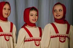 Russisches Volkstanz-Wettbewerb Leben im Tanz in der Stadt von Kondrovo, Kaluga-Region in Russland im Jahre 2016 Lizenzfreie Stockfotos
