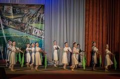 Russisches Volkstanz-Wettbewerb Leben im Tanz in der Stadt von Kondrovo, Kaluga-Region in Russland im Jahre 2016 Stockfotos