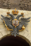 Russisches Wappen Stockfotografie