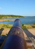 Russisches Wappen auf Gewehr Bomarsund-Festung Stockbild