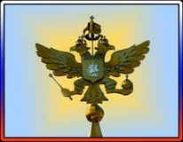 Russisches Wappen im Rahmen der Trikolore Lizenzfreies Stockfoto