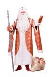 Russisches Weihnachtszeichen Ded Moroz Stockfotos