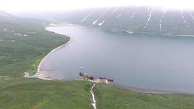 Russkaya海湾堪察加半岛,俄罗斯美丽的景色  股票视频