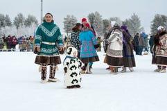 Russkinskie, Surgut, KhMAO-Ugra, Siberia, Russia, 2019.03.23. National holiday of reindeer herders, hunters, fishermen.
