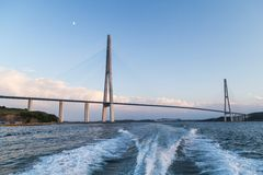 Russkiy most, Vladivostok, Rosja Zdjęcie Royalty Free