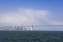 Russky Bridge in Vladivostok, Russia. View of Russky Bridge in Vladivostok, Russia stock photography