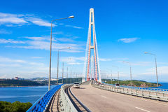 Russky Russian Bridge, Vladivostok Royalty Free Stock Images