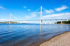 Russky Russian Bridge, Vladivostok Royalty Free Stock Image