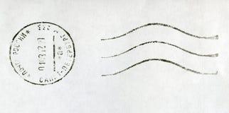 RUSSLAND - 2012: schwarzer Poststempelstempel Lizenzfreie Stockfotografie