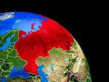 Russland auf Planet Erde vektor abbildung