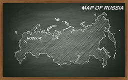 Russland auf Tafel Stockbilder