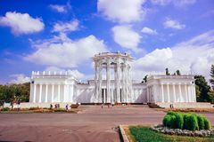 RUSSLAND am 8. August 2014 Hauptpavillon ENEA parken herein Lizenzfreie Stockfotos
