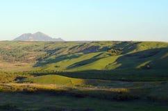 Russland, Berg Beshtau der Kaukasus, Ansicht vom Berg VerbludCamel Lizenzfreie Stockfotos