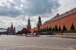 Russland Der Kreml auf Rotem Platz in Moskau 25. Mai 2017 Lizenzfreie Stockbilder