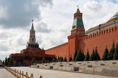 Russland Der Kreml auf Rotem Platz in Moskau 25. Mai 2017 Lizenzfreie Stockfotos