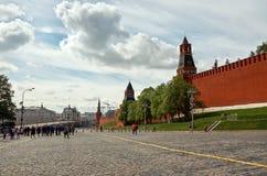 Russland Der Kreml auf Rotem Platz in Moskau 25. Mai 2017 Lizenzfreie Stockfotografie