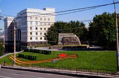 Russland die Stadt von Murmansk Lenin-Allee Stockfotografie