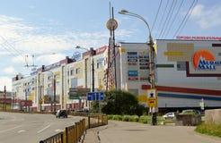 Russland Die Stadt von Murmansk Lenin-Allee Stockbilder