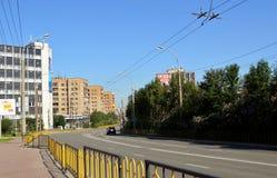 Russland Die Stadt von Murmansk Lenin-Allee Lizenzfreies Stockbild