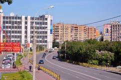 Russland Die Stadt von Murmansk Lenin-Allee Stockbild