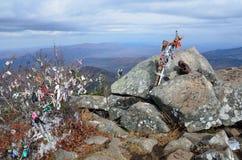 Russland, fernöstlich fällt, die Weise zur Spitze des Berges Pedan Lizenzfreies Stockfoto