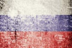 Russland-Flagge Stockfotografie
