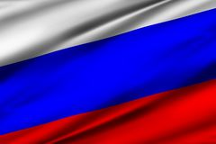 Russland-Flaggen-Illustration lizenzfreie abbildung