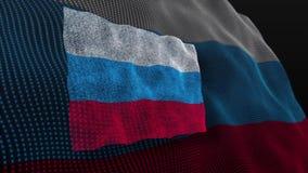 Russland-Flaggenschlagflattern belebt stock abbildung