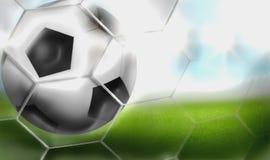 Russland-Fußball-Fußball 2018 3D übertragen Stockfotos