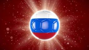 Russland-Fußball 2018 Weltsportereignis Animation des Videos 4K stock video