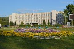 Russland Kandalaksha Gebäudeverwaltung Stockbilder