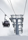 Russland Kaukasus. Elbrus Skiort. Winterlandschaft Stockfotos