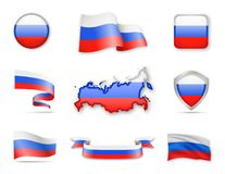 Russland kennzeichnet Sammlung Stock Abbildung