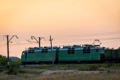 Russland, Merzhanovo: Am 22. August 2018: Lokomotive elektrisch mit a stockbild