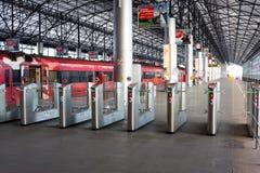 Russland, Moskau, Drehkreuzlandungzugang zum Aeroexpress-Zug Stockfotos