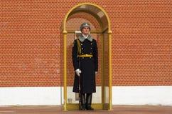 RUSSLAND, MOSKAU, EHRENWACHE lizenzfreie stockbilder