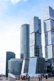 RUSSLAND, MOSKAU - 30. Juni 2017: Internationales Geschäftszentrum Wolkenkratzergebäude Moskau-Stadt-Moskaus - ein modernes Hande Lizenzfreie Stockfotos