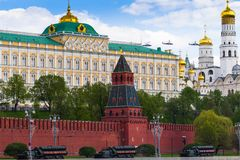 Russland, Moskau, am 7. Mai 2016 - Wiederholung der Parade auf rotem Squ lizenzfreie stockbilder