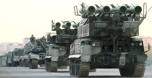 Russland-Parade-Wiederholung stockfotografie