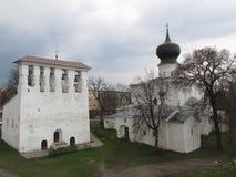 Russland, Pskov, Tempel, Kapelle, Frühling, Architektur Stockbild