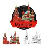 Russland Schattenbild ikone vektor abbildung