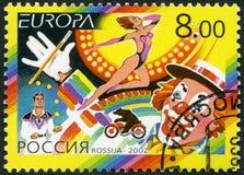 RUSSLAND - 2002: Shows Zirkus, Reihe Europa Stockfoto