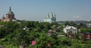 Russland, Smolensk, 07/2/2016, Kathedrale der Annahme von gesegneten Jungfrau Maria stock video