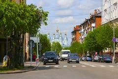 Russland, Smolensk, am 17. Mai 2011 - Straßenansicht der Stadt und Lizenzfreie Stockfotos